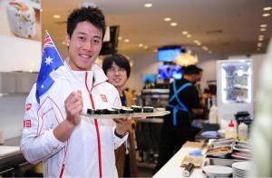 Kei Nishikori makes Sushi